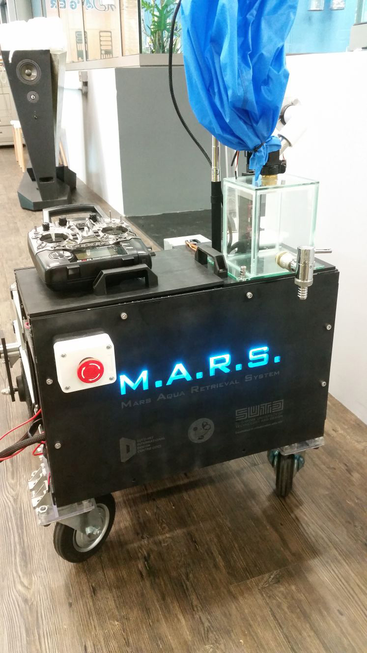 experimental rover to mine water from Mars made by Gilmour Technologies
